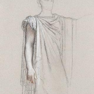 나폴레옹 1세의 신격화 습작 : 평상시 포즈의 오른 팔 습작