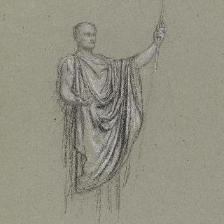 나폴레옹 1세의 신격화 습작 : 포즈와 의상 습작