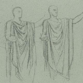 나폴레옹 1세의 신격화 습작 : 같은 포즈의 습작 2점