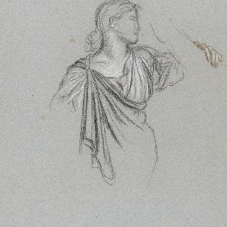 나폴레옹 1세의 신격화 습작 : 법률의 여신의 우의화, 주름진 천 습작