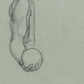 나폴레옹 1세의 신격화 습작 : 구를 잡고 있는 오른 팔 습작