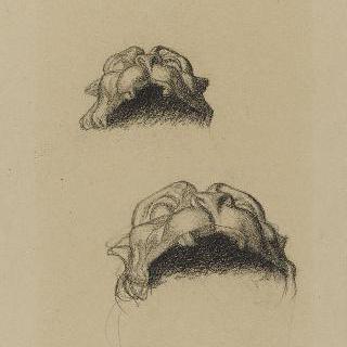 나폴레옹 1세의 신격화 습작 : 장식된 사지의 머리