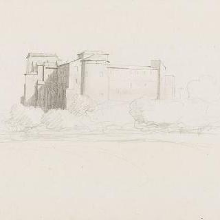 로마, 생트크루아드예루살렘 성당 후면의 건축물 전체