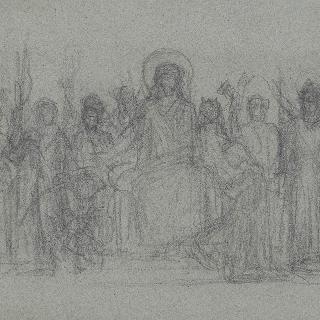 프랑스의 역사 등장인물들에게 둘러싸인 그리스도