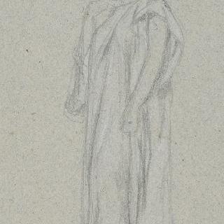 동맹 : 주름진 원피스를 입고 서 있는 여인