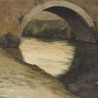 로마의 평야 : 티베르 강 위의 다리의 아치