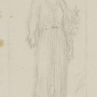 동맹 : 올리브 나뭇가지를 왼손에 잡고 서 있는 여인
