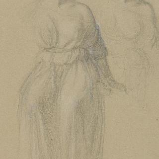 동맹 : 이중 허리띠가 있는 원피스를 입고 앉아있는 여인