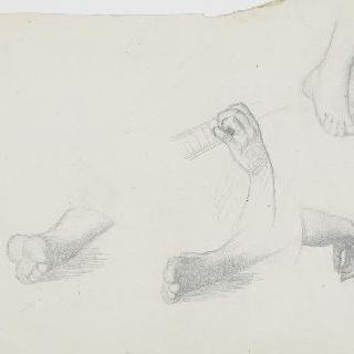동양인 무희, 발과 손 세부 묘사