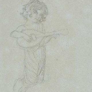 천국의 성모 : 만돌린을 연주하는 소천사