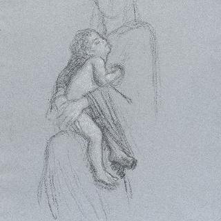 아기 예수의 잠 : 성모 품에서 잠든 아기 예수 이미지