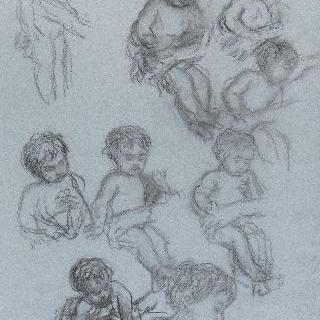 아기 예수의 잠 : 아기 예수의 크로키 9점