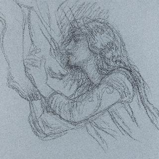 아기 예수의 잠 : 아기 예수의 발에 입맞춤하는 천사