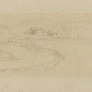 빌라 마담에서 바라본 테베레강의 고정 고리