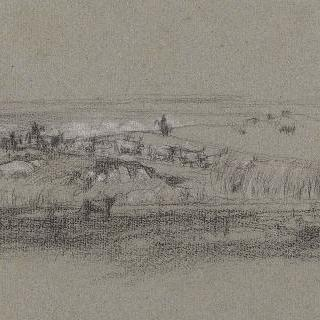 로마의 평야 : 석호 강변의 소떼