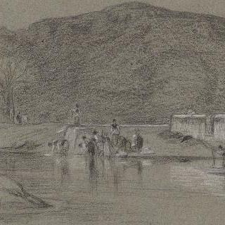 로마의 평야 : 연못가의 아낙네들