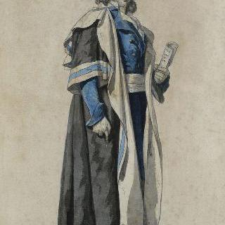 1793년 입법의회 의원을 위한 공민의상 초안