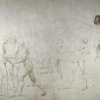베르사유궁의 줴드폼 선서, 1789년 6월 20일, 샤를르 모로의 건축물 바탕