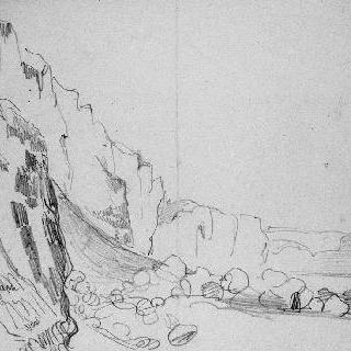 해안 절벽과 바닷가 바위들