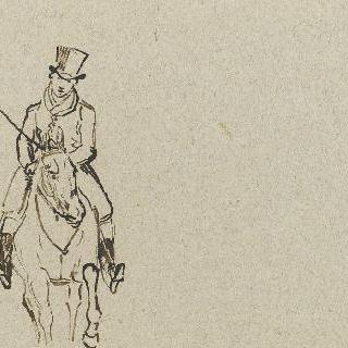 고상한 모습의 모자를 쓴 말탄 신사
