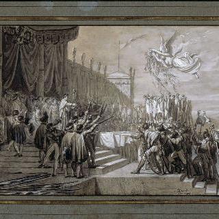 나폴레옹 황제의 분배를 위한 전체 습작