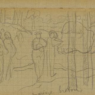 월터 앨범 : 브르타뉴 결혼 크로키, 1888