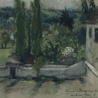 세나르 숲 근처 샹르로세에 있는 들라크루아의 집 정원