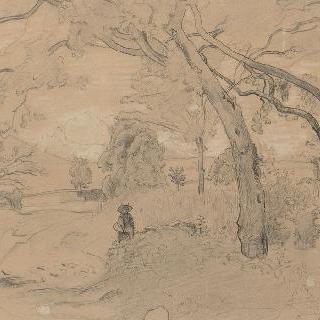 오트 사부아 지방, 모르넥스의 나무 아래 있는 소녀