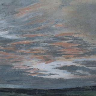 석양의 하늘 습작, 1849년 7월 샹프로세에서