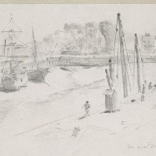 1854년 9월 2일, 디에프의 뒤크스느 부두 정경
