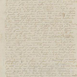 독창적인 그림이 있는 자필 편지, 다니엘 드 몽프레드에게, 타히티