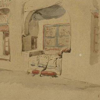 벽규방이 있는 모로코 집 실내