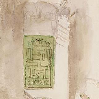 모로코 실내 : 녹색문 ; 1832