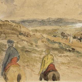 여정 : 탄저와 메크네스 사이의 풍경 ; 1832년 3월
