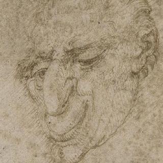메부리코 남자의 얼굴