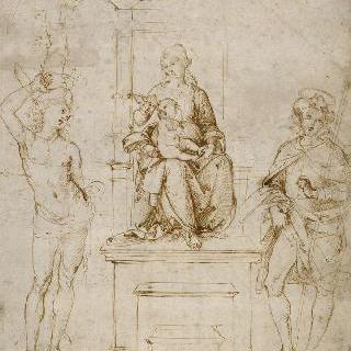성 세바스티아누스과 성 로크 가운데 왕좌 위의 성모와 아기 예수