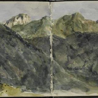 피레네 앨범 : 파노라마 전경의 산들