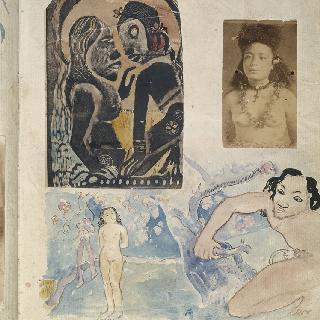 노아 노아 앨범 : 자연 속의 부부와 타히티 여자