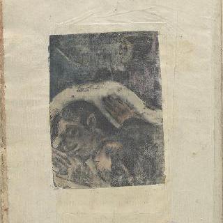 노아 노아 앨범 : 상체가 보이는 누워있는 타히티 여자와 유령