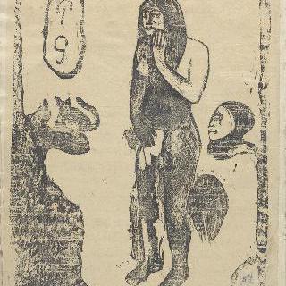 노아 노아 앨범 : 나체로 서 있는 타히티 여자