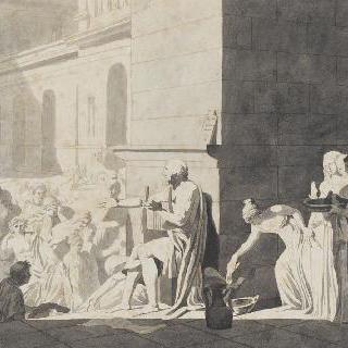 그리스인들에게 운문을 들려주는 호메로스