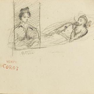 이탈리아 앨범 : 여자 초상과 누워 있는 남자