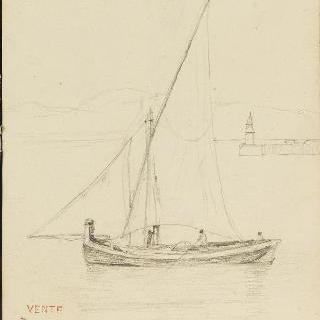 이탈리아 앨범 : 젠느 항구 출구의 작은배