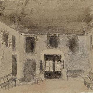 스페인, 카딕스 소재 수도원의 방 ; 1832년
