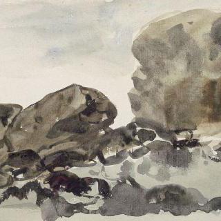 노르망디 해변의 바위들 ; 페캉 근처