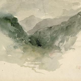 안개 속의 산맥