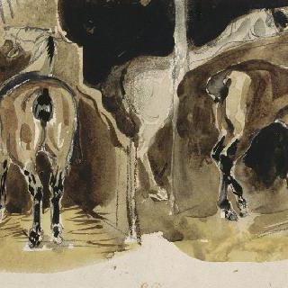 마굿간 안의 말들 ; 1824-1825