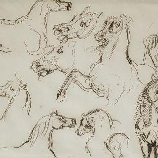 말들 습작 ; 1835-1840