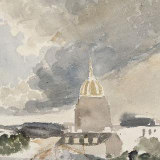 앵발리드의 둥근 지붕과 주변 지붕들 정경