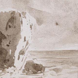 노르망디 해안절벽가의 바다 ; 1835